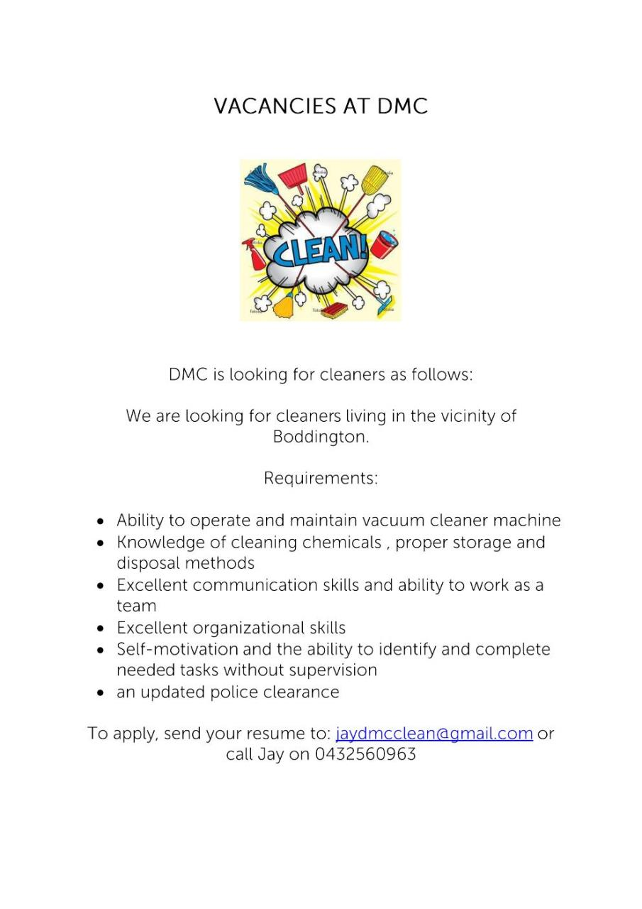 DMC VACANCIES