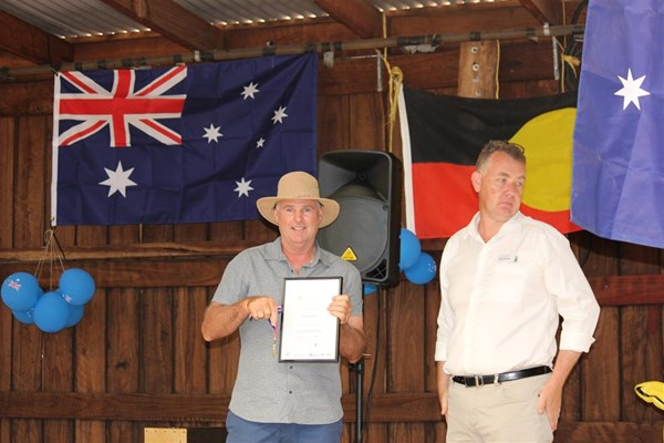 Australia Day 2018 - Phil Salmeri - Award accepted on his behalf by Brad Hardie for Community Citizen of the Year