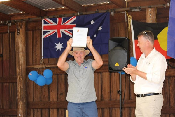 Australia Day 2018 - Brad Hardie - certificate of Appreciation