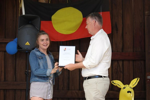 Australia Day 2018 - Hannath Latham - Certificate of Appreciation Community Citizen of the year, Youth Category
