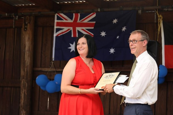 Australia Day 2018 - Mrs Fiona Bairstow - Citizenship Certificate Recipient