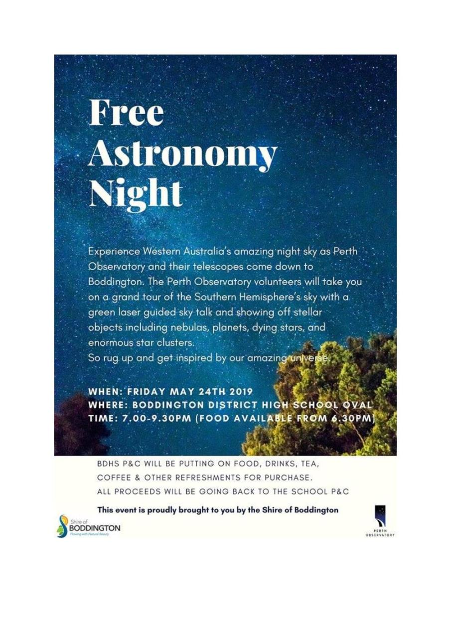 FREE - ASTRONOMY NIGHT