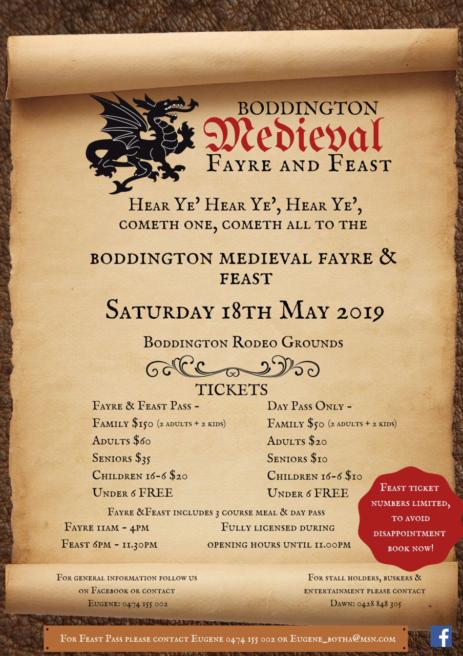 BODDINGTON MEDIEVAL FAYRE & FEAST