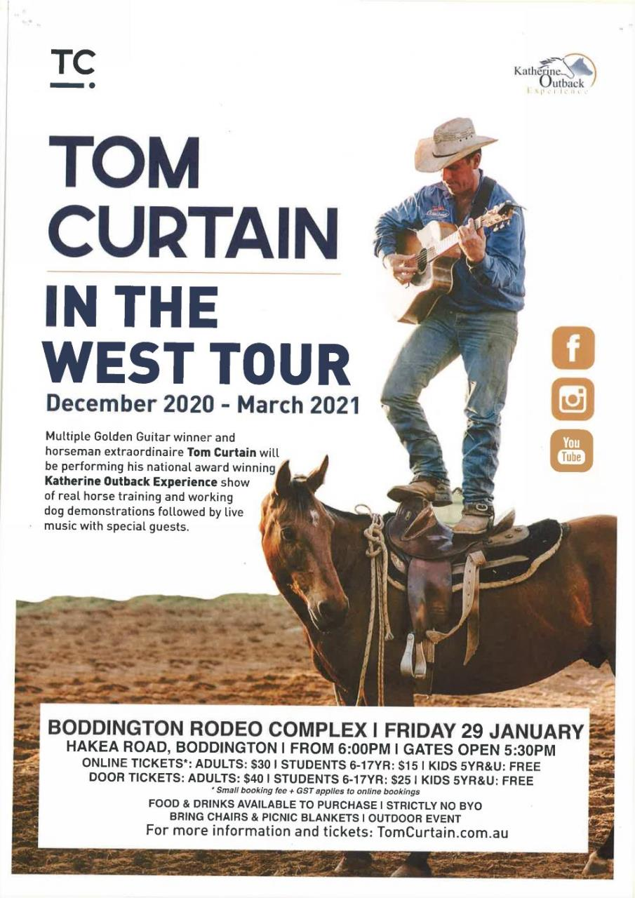 TOM CURTAIN'S IN THE WEST TOUR PROSPECTUS