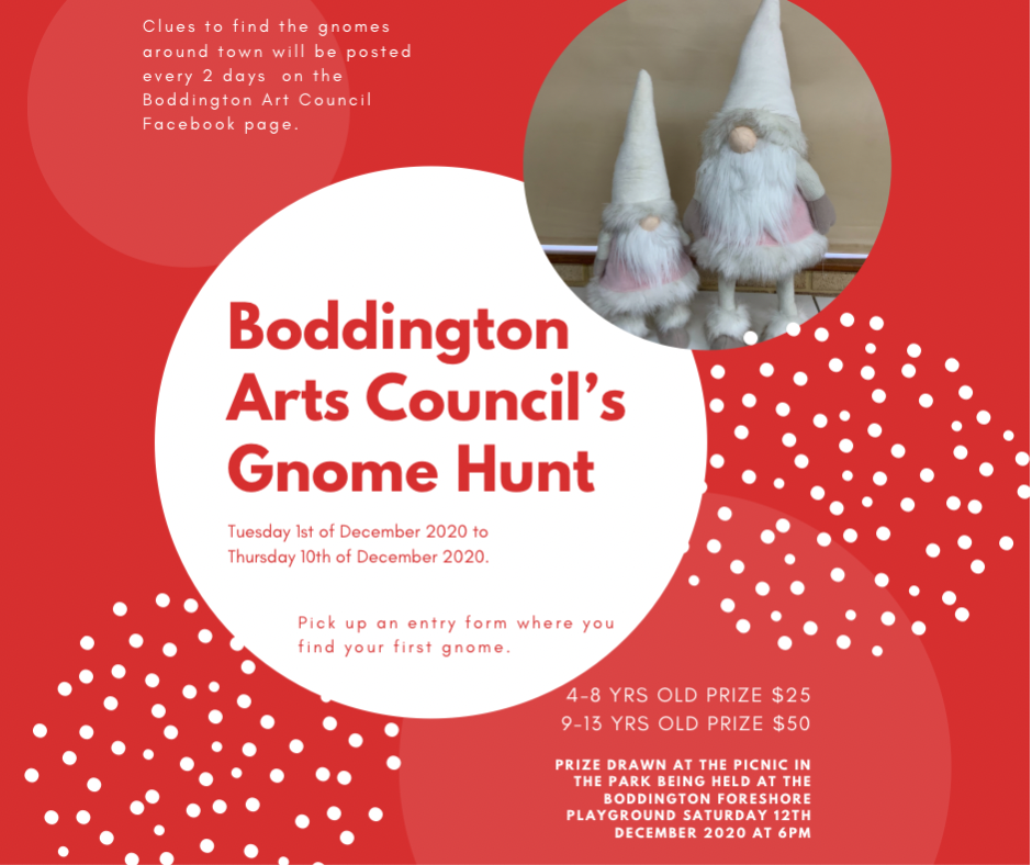 BODDINGTON ARTS COUNCIL'S GNOME HUNT