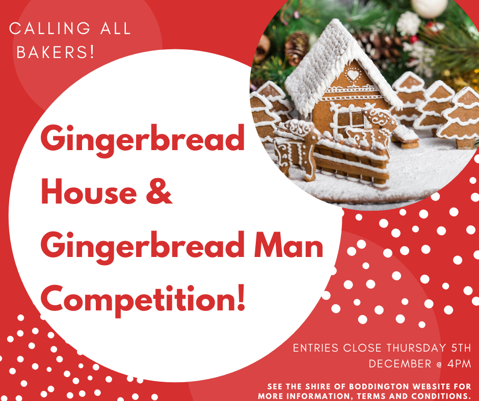 GINGERBREAD HOUSE & GINGERBREAD MAN COMPETITION